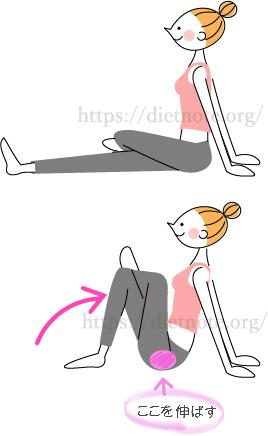 柔軟講座・大臀筋のストレッチ