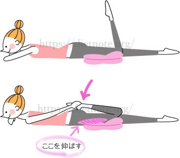 柔軟講座・うつぶせひざ曲げストレッチ