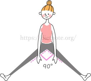 股関節内転筋群の柔軟性チェック
