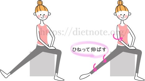 柔軟講座・片脚ひねりストレッチ